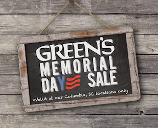 Green's Memorial Day Sale
