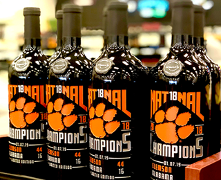 Mano's Clemson 2018 National Champions Wine