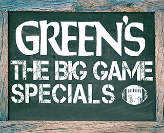 Green's The Big Game Sale
