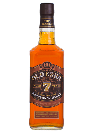 Old Ezra 101 Proof Bourbon Whiskey Aged 7 years