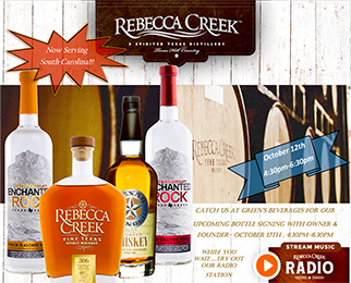 Rebecca Creek Free Tasting & Bottle Signing