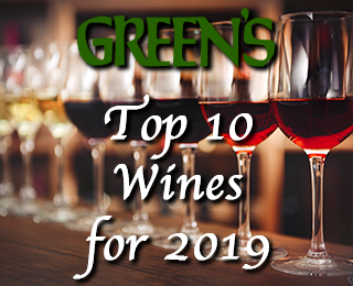 Green's Top 10 Wines for 2019