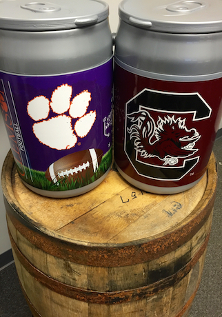 Gamecock and Clemson Can Coolers